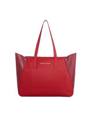 Armani Jeans 阿玛尼牛仔女士时尚红色单肩手提包