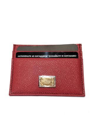 意大利 Dolce&Gabbana 杜嘉班纳D&G 枣红色高雅 防刮花时尚卡包 BI0330 A1001 80315