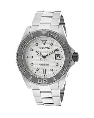 Invicta 因维克塔Pro Diver系列不锈钢圆形银色机械机芯男士手表 INVICTA-12838