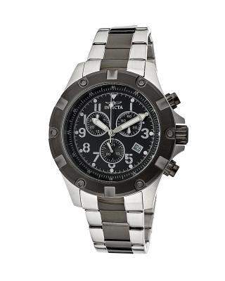 Invicta 因维克塔Specialty系列不锈钢圆形银色和枪色瑞士计时石英机芯男士手表