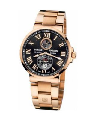 Ulysse Nardin 雅典Maxi Marine Chronometer 43mm 18k玫瑰金男士自动机械腕表 266678M42