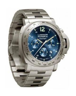 Panerai 沛纳海 Luminor Daylight 计时表 钛 蓝色 表盘机械男士腕表 PAM 00327