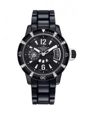 Jaeger Le-Coultre 积家 Master Compressor 潜水GMT双时区万年历 陶瓷镶纯天然钻石 潜水机械女士腕表 189CC70