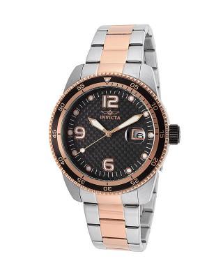 Invicta 因维克塔Pro Diver系列不锈钢圆形银色和玫瑰金机械机芯男士手表 INVICTA-14114