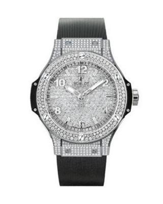 Hublot 宇舶 Big Bang 黑色橡胶表带不锈钢钻石表盘石英男表 361SX9010RX1704