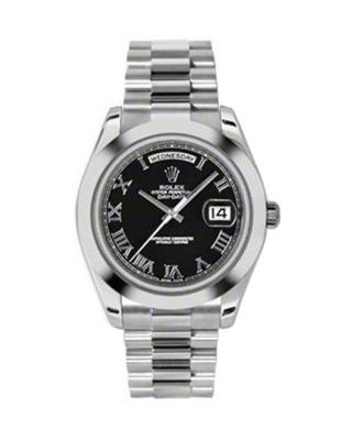 Rolex 劳力士 Day Date II President铂金蚝式 万年历 机械男士腕表 218206bkrp