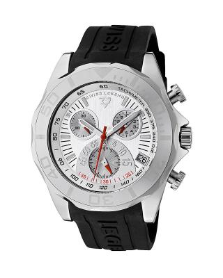 Swiss Legend 瑞士传奇Tungsten系列钨黑色硅胶石英机芯男士手表 SL-18010-02