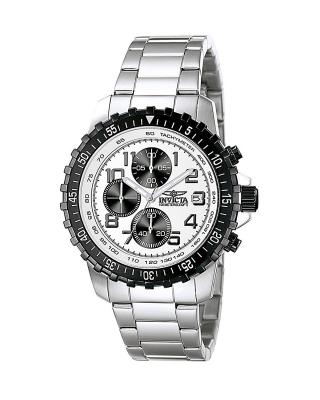 Invicta 因维克塔Specialty系列不锈钢银色计时石英机芯男士手表