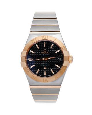瑞士 Omega 欧米茄星座系列Cal.850018K玫瑰金日期显示自动机械男士手表 123.20.38.21.01.001