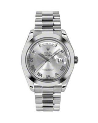 Rolex 劳力士 Day Date II President铂金蚝式 万年历 机械男士腕表 218206rrp