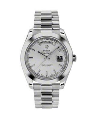 Rolex 劳力士 Day Date II President铂金蚝式 万年历 机械男士腕表 218206sip