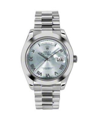 Rolex 劳力士 Day Date II President铂金蚝式 万年历 机械男士腕表 218206iblrp