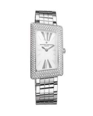 Vacheron Constantin 江诗丹顿 1972 18K白金加纯天然钻石 石英女士腕表 25515U01G9233