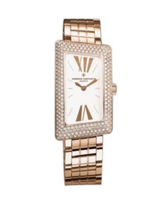 Vacheron Constantin 江诗丹顿 1972 18K玫瑰金加纯天然钻石 石英女士腕表 25515U01R9254