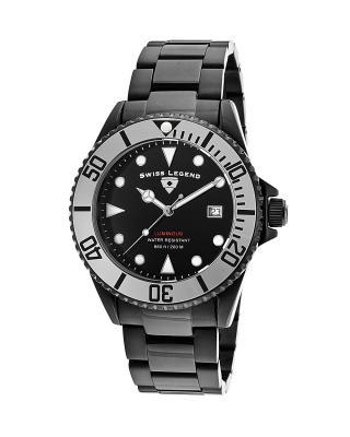 Swiss Legend 瑞士传奇Luminous系列离子镀不锈钢圆形黑色石英机芯男士手表 SL-21344-BB-11-SB