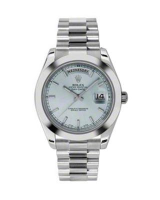 Rolex 劳力士 Day Date II President铂金蚝式 万年历 机械男士腕表 218206iblip