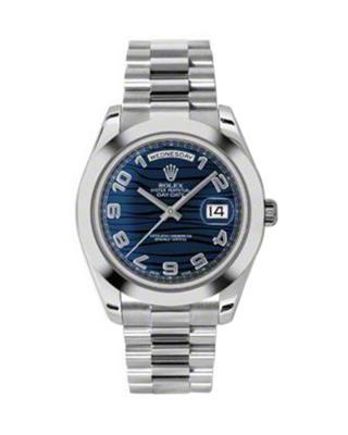 Rolex 劳力士 Day Date II President铂金蚝式 万年历 机械男士腕表 218206blwap