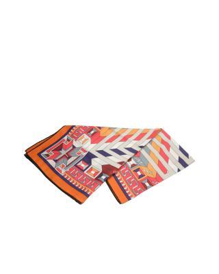 法国 HERMES 爱马仕 橙羊毛色丝巾 SCARF140CS