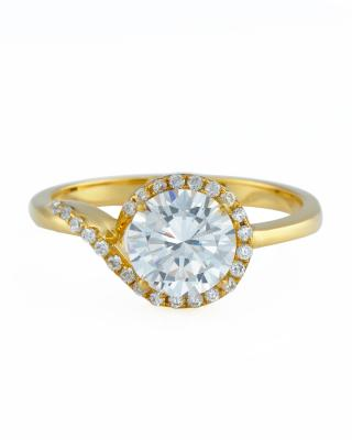 Celine Fang 925银镀黄金锆石戒指