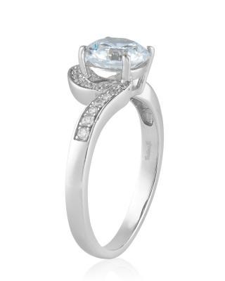 Celine Fang 赛琳·方 925银镀白金锆石戒指