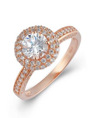 Celine Fang 赛琳·方 925银镀玫瑰金锆石戒指