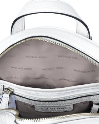 美国 Michael Kors迈克高仕 白色牛皮女士拉链开合学院双肩包 30S7SEZ-B2L-OPTIC WHITE