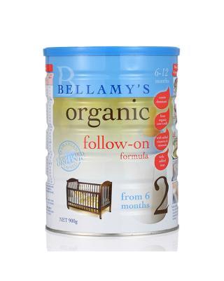 澳大利亚 贝拉米 Bellamy's 婴幼儿有机奶粉2段 (6-12个月) 900克 2罐装