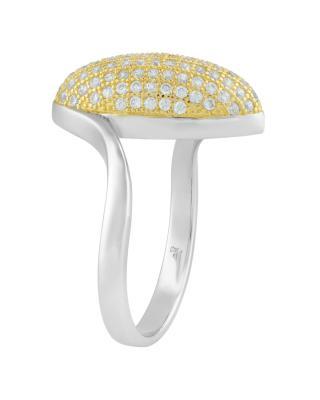 Celine Fang 赛琳·方 925银镀双金锆石戒指