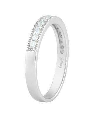 Celine Fang 赛琳·方925银镀白金锆石情侣戒指