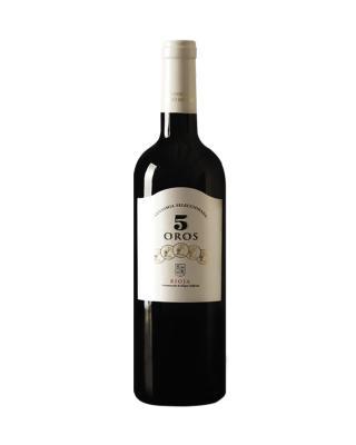 西班牙原装进口 里奥哈产区 5个金币精选2015红葡萄酒 750ml 14.5%vol. DOC级别