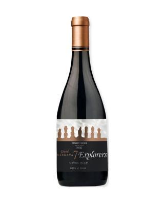 智利原装进口 马乌莱山谷产区 7个人特级珍藏黑品诺2014红葡萄酒 750ml 13.5%vol. 特别珍藏级