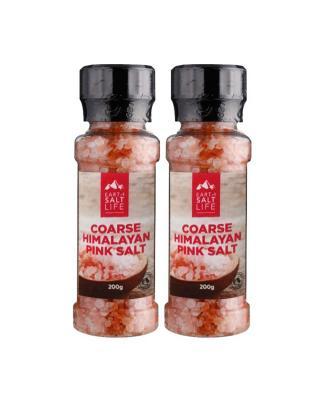 澳大利亚 EARTH SALT LIFE 喜马拉雅玫瑰粉红盐带研磨器 200g 2件装