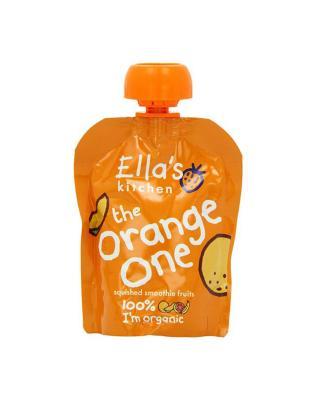 英国 Ella's Kitchen 艾拉厨房 橙色(苹果+芒果+香蕉+椰子)混合果泥 90g 2件装