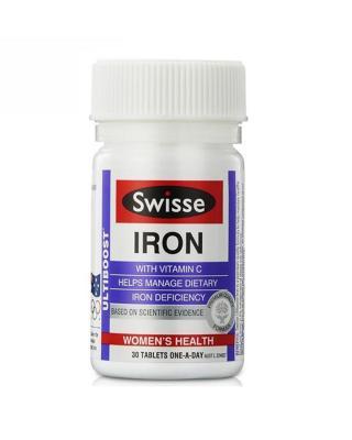 澳大利亚 Swisse 补铁补血营养片 30粒