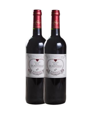 法国原装进口 波尔多产区 漫飞岩庄园城堡2015红葡萄酒 750ml 13.5%vol. AOC级别 x2支