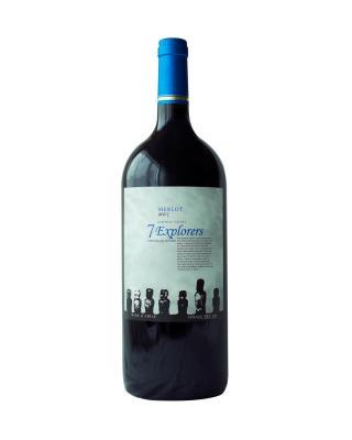 智利原装进口 中央山谷产区 7个人精选梅洛2017红葡萄酒 1500ml 13%vol. 精选级
