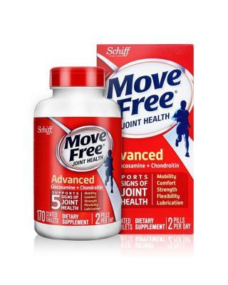美国 Schiff MoveFree氨基葡萄糖红瓶维骨力 170粒