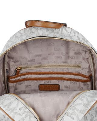 美国 Michael Kors 迈克高仕 香草色LOGO字母图案女士双肩包 RD14122-VANILLA