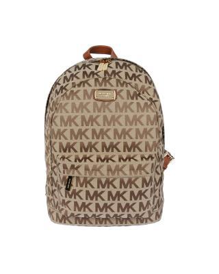 美国 Michael Kors 迈克高仕 棕色LOGO字母图案女士双肩包 WA19242-BROWN (A)
