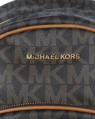 美国 Michael Kors 迈克高仕 棕色LOGO字母图案女士双肩包 RD16440E-BROWN