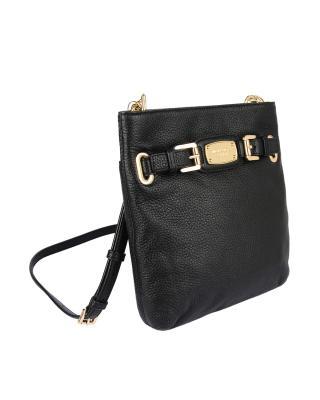 美国原装进口 Michael Kors 迈克高仕 黑色真皮女士单肩包 RD16485B-BLACK (Leather)