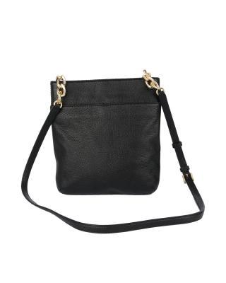 美国 Michael Kors 迈克高仕 黑色真皮女士单肩包 RD16485B-BLACK (Leather)