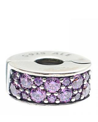 丹麦 潘多拉PANDORA 华丽闪亮固定扣791817CFP 紫色