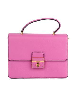 意大利 Dolce&Gabbana 杜嘉班纳D&G 玫粉色真皮女士风琴包 BB5841 AC177 80499