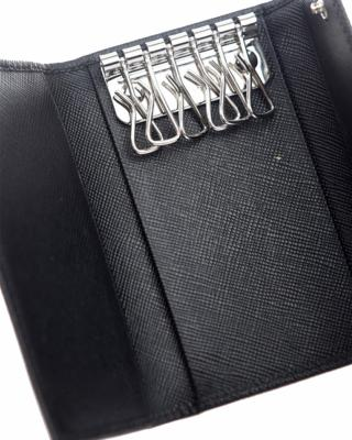 意大利 PRADA 普拉达 黑色牛皮男士钥匙包 2PG222-053-F0002