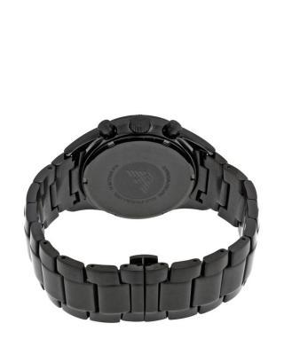 意大利原装进口 Emporio Armani 安普里奥·阿玛尼 黑色钢带男士石英手表 AR6094