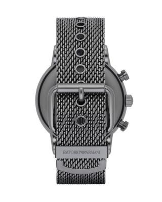 意大利 ARMANI 阿玛尼 蓝盘三眼日历钢带男士石英手表 AR1979