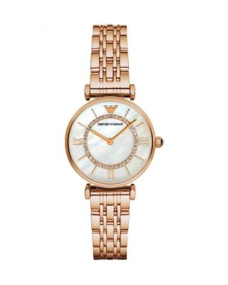 意大利原装进口 Emporio Armani 安普里奥·阿玛尼 玫瑰金色钢带石英女士手表(摩天轮) AR1909