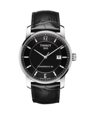瑞士 Tissot 天梭 钛系列男士机械腕表 T087.407.46.057.00