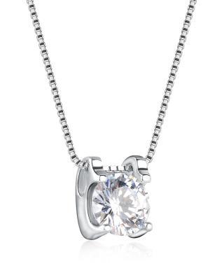 Celine Fang 赛琳.方 925银 2.6克 方形锆石女士项链